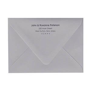 Return Address Black Ink Printed Outer A7 5 Euro Flap Envelopes