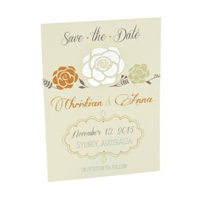 Spring Bloom - Laser Cut - Save The Date