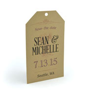 Peony Tag -  Laser Cut - Save The Date