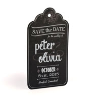 Chalkboard Tag - Laser Cut -  Save The Date