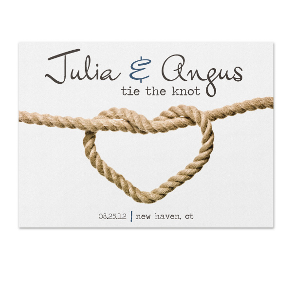 tie the knot save the date sample
