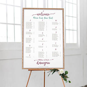 Cute Brush Guest Seating Chart