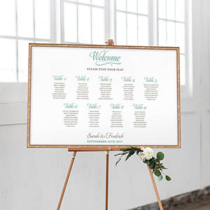 Simple Elegant Guest Seating Chart