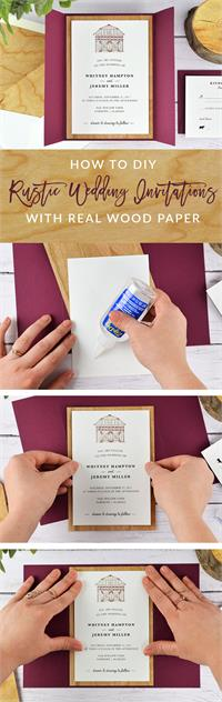How to Mount Real Wood A7 Invitation Mats (4 3/4 x 6 3/4)