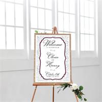 Cards And Pockets Wedding Welcome Elegant Floral