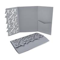 Leaves Laser Pocket Invitation (Flap Only)