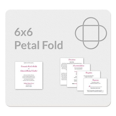 Petal Fold 6x6 Invitation Template Doc Format