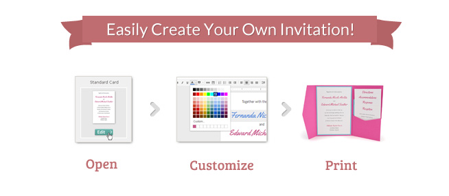Cards and pockets invitation templates document format for Wedding invitation maker program