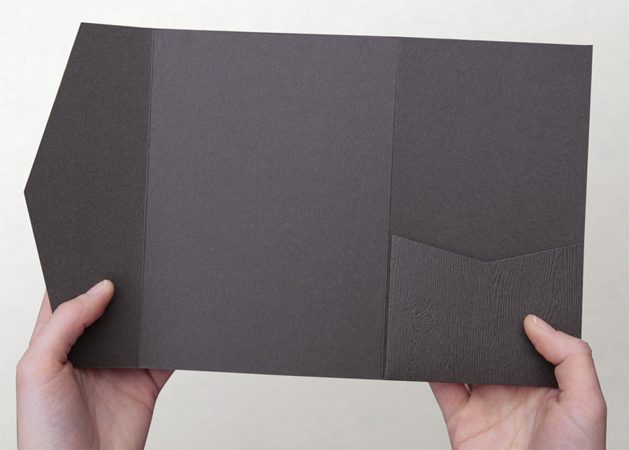 Cards And Pockets Woodgrain Pocket Invitations And Paper Products