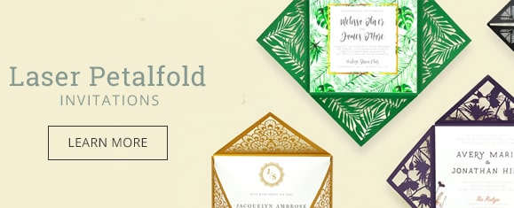 Laser Petalfold Invitations